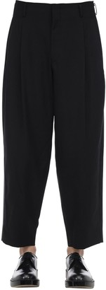 Comme des Garcons Cool Wool Pants W/ Silk Satin Side Bands