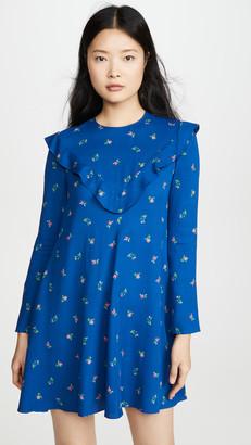 Philosophy di Lorenzo Serafini Floral Long Sleeve Mini Dress