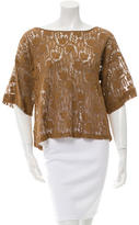 Giada Forte Lace Short Sleeve Top