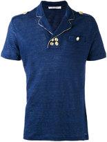 Pierre Balmain button detail top - men - Linen/Flax - 46
