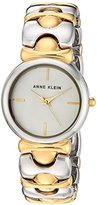Anne Klein Women's Quartz Metal and Alloy Dress Watch, Color:Two Tone (Model: AK/2635SVTT)