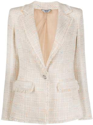 Liu Jo single-breasted tweed blazer