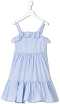 Ralph Lauren striped ruffled dress - kids - Cotton - 2 yrs