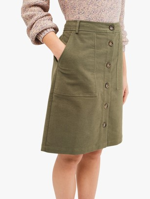 White Stuff Manhattan Twill Skirt, Khaki