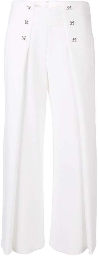 Genny flared cropped trousers