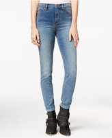 Free People Gummy High-Rise Medium Blue Wash Skinny Jeans