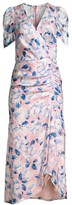 Shoshanna Lorenza Floral Ruched Dress
