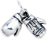 Charm & Chain Amazing Sterling Silver Boxing Gloves Charm, Chain Not Included, Comes in a Free Gift Pouch