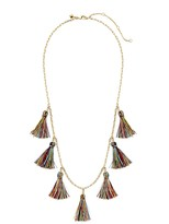 Rebecca Minkoff Kaleidoscope Tassel Layering Necklace