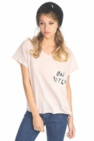 Wildfox Couture Bad Bitch Romeo Pocket Tee in Pout