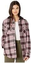 Volcom Snow Hooded Flannel Jacket (Purple Haze) Women's Clothing