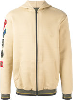 Mr & Mrs Italy - hoodie with patches - men - Cotton/Polyamide/Polyester/Spandex/Elastane - 46