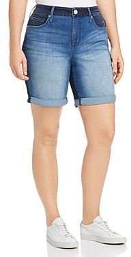 Seven7 Weekend Bermuda Denim Shorts in Gemini Wash