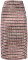 No.21 plaid midi skirt - women - Polyamide/Polyester/Modal/Other fibres - 40