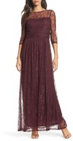 Ellen Tracy Women's Pleat Waist Lace Gown