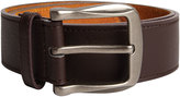 Yours Clothing D555 Brown Kingsize Leather Belt With Silver Buckle