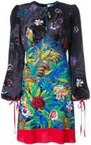 MSGM floral printed dress