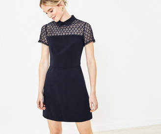 Oasis Lace Insert Collar Dress