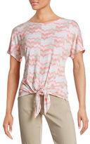 Ruby Rd Chevron Tie Front T-Shirt