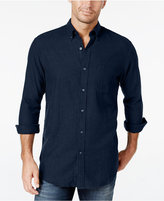John Ashford Men's Long-Sleeve Herringbone Shirt, Only at Macy's