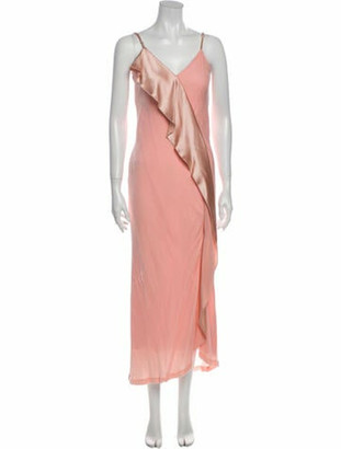 Mestiza New York V-Neck Long Dress w/ Tags Pink