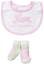 Mud Pie My First Easter Bib Sock Set (Infant)