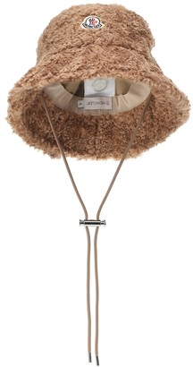 Moncler Faux-shearling bucket hat