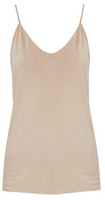 Skin Scoop-neck Pima-cotton Cami Top - Nude