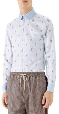 Gucci Kingsnakes Fil Coupe Oxford Shirt