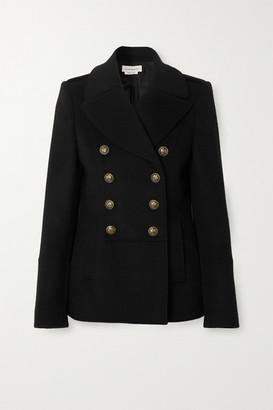 Alexander McQueen Double-breasted Wool Coat - Black
