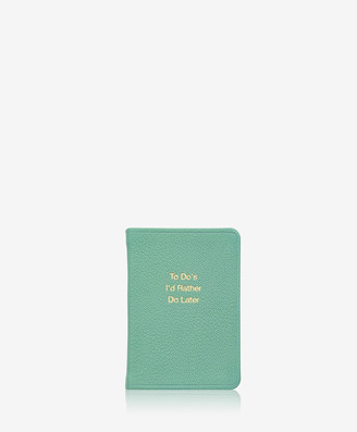 GiGi New York To Do's - Mini Book, Robin's Egg Blue Goatskin Leather