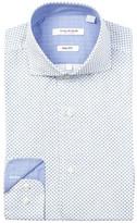 Isaac Mizrahi Twill Diamond Slim Fit Dress Shirt