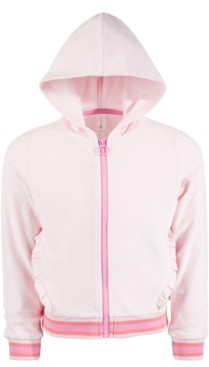 Ideology Toddler Girls Velour Ruffle Zip Hoodie, Created for Macy's