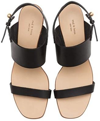 Rag & Bone City Mid-Heel Sandal (Black) Women's Shoes