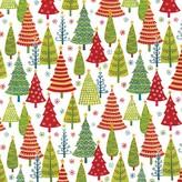 Caspari Tree Farm Gift Wrap