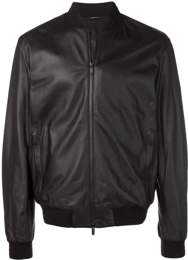 5deb48875 zipped bomber jacket