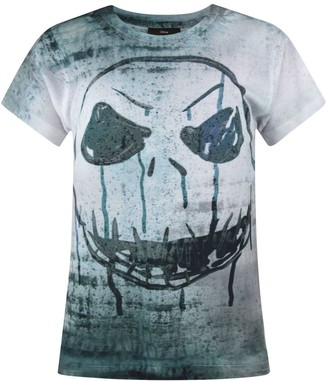 Disney Nightmare Before Christmas Jack Face Sublimation Girl's T-Shirt (5-6 Years)