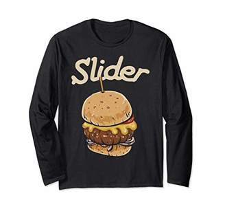 Burger Slider Simple Graphic Long Sleeve T-Shirt