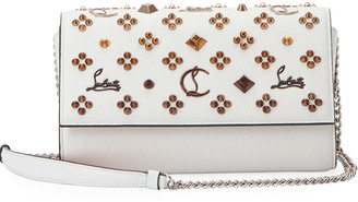 Christian Louboutin Paloma Fold-Over Embellished Clutch Bag