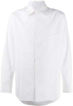 Yohji Yamamoto long sleeved cotton shirt