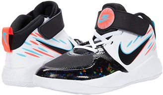 Nike Kids Team Hustle D 9 Light (Little Kid) (Black/Black/White/Baltic Blue) Kid's Shoes