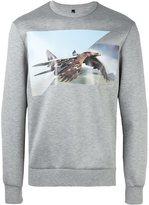 Neil Barrett eagle print sweatshirt - men - Polyurethane/Viscose - L