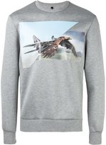 Neil Barrett eagle print sweatshirt - men - Polyurethane/Viscose - M