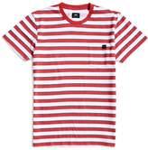 Edwin Cotton Pocket T-Shirt Striped White