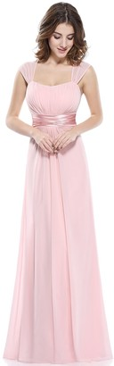 Ever Pretty Ever-Pretty Sleeveless Floor Length Evening Party Dress with Empire Waist 10UK Pink