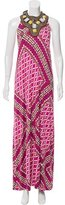 Tory Burch Printed Silk Maxi Dress