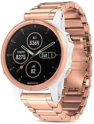 Garmin Fenix 5S Plus Rose Gold-Tone Link Bracelet Smartwatch, 42mm - 100% Exclusive