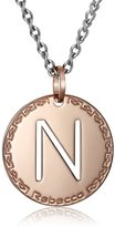 "Rebecca Word"" Gold Over Bronze Letter ""N"" Necklace"