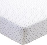 CoCalo Julian Collection Fitted Crib Sheet - Gray Dottie