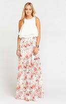 MUMU Princess Ariel Ballgown Maxi Skirt ~ Floretta Ivory